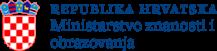 logo Ministarstvo znanosti i obrazovanja