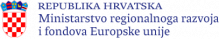 logo Ministarstvo regionalnog razvoja i fondova EU